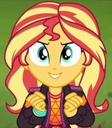 Sunset Shimmer in My Little Pony- Equestria Girls Sunset's Backstage Pass