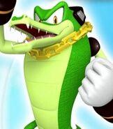 Vector the Crocodile in Sonic Free Riders