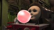 Emily blowing bubble gum 3