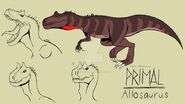 Genndy tartakovsky primal allosaurus style by lilburgerd4 ddvu27u-fullview