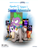 Cynder and the Spyro 2 Spike's Adventure Poster