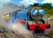 Gordon the big engine with sunglasses