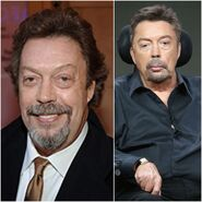 Tim Curry's look comparison