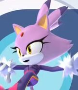 Blaze in Mario and Sonic at the Olympic Games Tokyo 2020