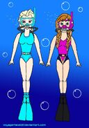 Elsa and anna frozen scuba diving by voyagerhawk87 dab5smo-fullview