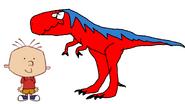 Stanley Griff meets Tyrannosaurus Rex
