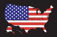 USA Flag Map (V2)
