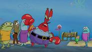 Krabs gets spongebob and plankton