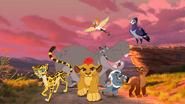 Kion, Bunga, Fuli, Ono, Beshte, Rani and Anga (The Lion Guard)