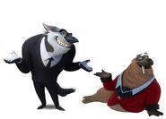 Linnux and Otto Von Walrus