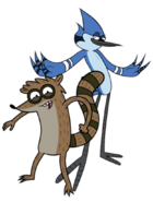 Mordecai and Rigby Render