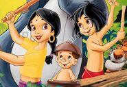 Mowgli, Shanti and Ranjan (The Jungle Book 2)