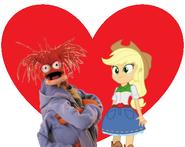 Pepe and Applejack love together