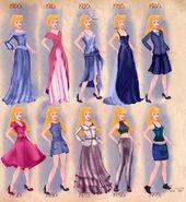 Aurora in 20th century fashion by BasakTinli