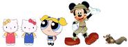 Kitty Mimmy Bubbles Scrat and Mickey
