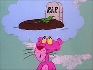 Pink panther thinks that a gopher dies 2
