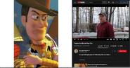 Woody vs Psycho Dad