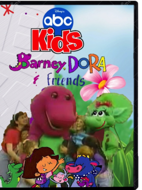 Barney, Dora & Friends DVD Cover.png