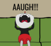 Cuphead saying AAUGH!!!
