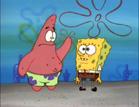 Patrick train with spongebob