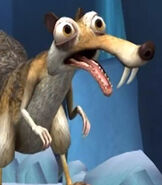 Scrat in Ice Age Dawn of the Dinosaurs (Video Game)