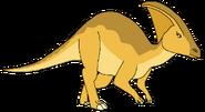 Soleil Spacebot parasaurolophus form dinosaur in thespacebotsadventuresseries