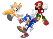 Sonic Tails and Knuckles render