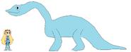 Star meets Brachiosaurus