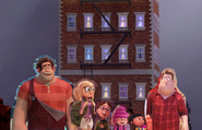 Wreck-It Ralph, Sam, Margo, Edith, Agnes and Chuck