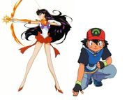 Ash Ketchum and Sailor Mars