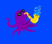 Octopus Playing Saxophone