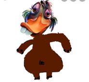 Abby Mallard as the Hippopotamus Front