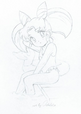 Chibiusa with her legs in the pool