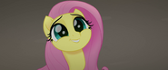 Fluttershy smiling at the Storm Guard MLPTM