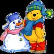 Pooh snowman