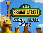 SScredits1992: Big Bird walks under the Sesame Street sign, saying the CTW announcement