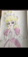 Anime Princess peach getting dizzy