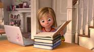 Riley is doing her homework