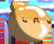 Dixie the fox and the hound 2 the parade balloon by crimsonstar7359 dco1hlc-fullview