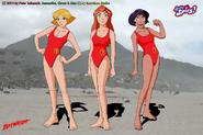 Sam, Clover and Alexandra as Lifeguards