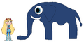 Star meets African Bush Elephant