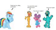 Oe, Abby and Rosita Compliment Rainbow Dash
