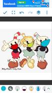 Cuphead, Mugman, and Ms. Chalice (Corona)
