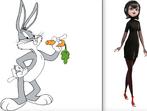 Mavis and Bugs Bunny