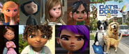 Penny, Coraline, Riley, Vanellope, Margo, Tip and Mai hates Cats and Dogs - Paws Unite