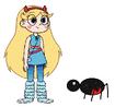 Star meets Black Widow Spider