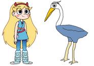 Star meets Great Blue Heron