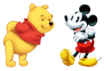 Mickey Mouse and Winnie the Pooh