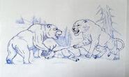 Cave Lion vs. Cave Bear by Javor911
