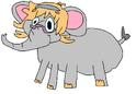Lotte as an elephant
